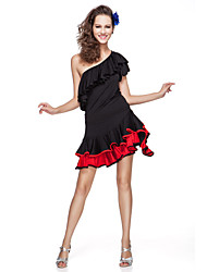 cheap -Women's Viscose With Ruffles Latin Dance Top And Skirt More Colors