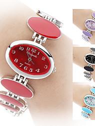 Dame Modeur Armbåndsur Quartz Bånd Elegante Sort Hvid Rød Pink Lilla Sort Lilla Rød Blå Lys pink