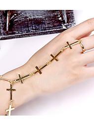 cheap -Chain Bracelet - Cross Casual, Punk, Fashion Bracelet Gold / Silver For