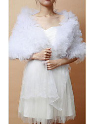 cheap -Sleeveless Tulle Wedding Party Evening Wedding  Wraps Shawls