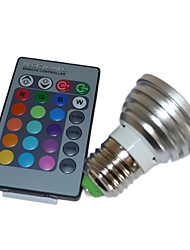 cheap -5W Multi-color LED Bulb with Remote  (4 Packs)