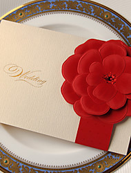 "cheap -Side Fold Wedding Invitations Invitation Cards Classic Style Flora Style Card Paper 7 1/5""×5"" (18.4*12.8cm)"
