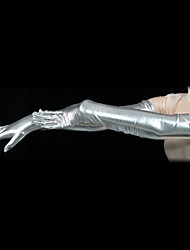Gloves Ninja Zentai Cosplay Costumes Silver Solid Gloves Spandex Unisex Halloween Christmas