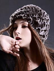 Esqui Caps Mulheres Mantenha Quente / A Prova de Vento Pranchas de Snowboard Tecido de Lã Café Cor ÚnicaEsqui / Esportes de Neve /