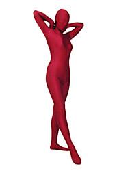 economico -Costumi zentai Tutina aderente Tuta di pelle Costumi corpo intero Ninja Per adulto Costumi Cosplay Tinta unita Licra Per uomo Per donna Halloween / Elevata elasticità