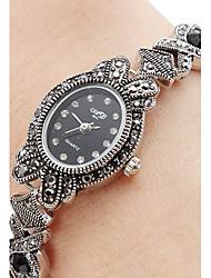 Недорогие -Жен. Кварцевый Часы-браслет Японский Повседневные часы сплав Группа Кулоны / Мода Черный