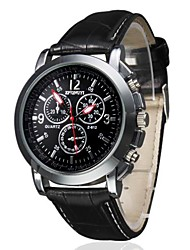cheap -Men's Wrist watch Quartz Casual Watch PU Band Charm Black Brown