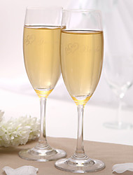 Personalized Toasting Flutes - Bride & Groom Wedding Reception