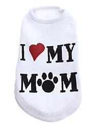 preiswerte -Hund T-shirt Hundekleidung Buchstabe & Nummer Weiß Kostüm Für Haustiere