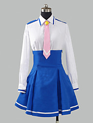 cheap -Inspired by Pretty Cure Cure Happy Anime Cosplay Costumes Cosplay Suits / School Uniforms Patchwork Long Sleeve Shirt / Skirt / Tie For Women's Halloween Costumes