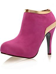 povoljno -Žene Cipele Brušena koža Jesen / Zima Stiletto potpetica 5.08-10.16 cm / Čizme gležnjače / do gležnja Crn / Sive boje / Fuksija
