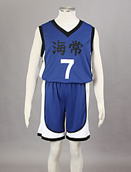 cheap -Inspired by Kuroko no Basket Kise Ryota Anime Cosplay Costumes Cosplay Suits Print Sleeveless Vest Shorts For Men's