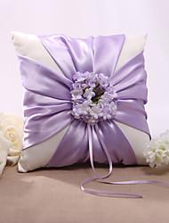 Lilla Floral Design da sposa in raso anello cuscino