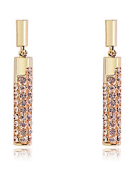 cheap -Korean Fashion drill cylindrical Gold Plating Earrings