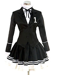 cheap -Inspired by Vocaloid Hatsune Miku Video Game Cosplay Costumes Cosplay Suits / Dresses Solid Black Long SleeveCoat / Shirt / Skirt /