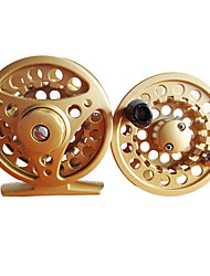 5/6 75mm Fly Reel with a Spare Spool (Black/Silver/God)