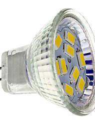 2W GU4(MR11) Faretti LED MR11 9 leds SMD 5730 Bianco caldo 200lm 2700K DC 12V