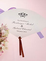 Недорогие -Персонализированные Pearl бумаги Рука вентилятора - Rose (набор из 12)