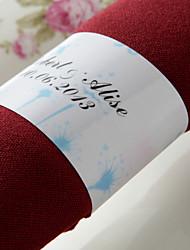 anneau de serviette en papier personnalisé - joli printemps (ensemble de 50) réception de mariage