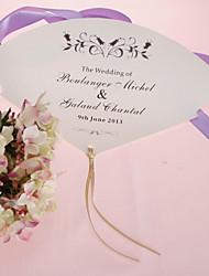 Недорогие -персонализированные бумага перлы руку вентилятор - черный цветок (набор из 12)