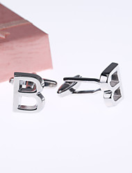 Gift Groomsman High Quality Initial Cufflinks