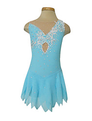 Figure Skating Dress Women's Girls' Ice Skating Dress Spandex Rhinestone Appliques Flower(s) High Elasticity Performance Practise Skating