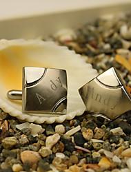 Недорогие -Нержавеющая сталь Запонки и булавки для галстука Свадьба День рождения