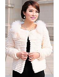 Manica lunga pelliccia pelliccia di volpe Collare coniglio Casual / Partito Jacket (più colori)