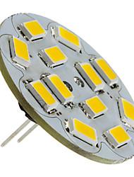 1.5W G4 LED Spotlight 12 SMD 5730 130-150lm Warm White 2700K DC 12V