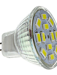 2w gu4 (mr11) riflettore principale mr11 12 smd 5730 240-260lm bianco naturale 6000k dc 12v 1pc