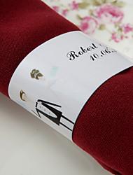 personalizirani papirnasti salon papira - naš veliki dan (skup od 50) vjenčani prijem