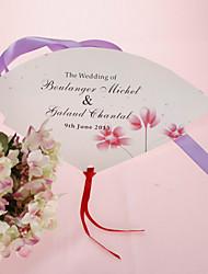 personalizirane biser papir rukom fan - lijepi cvijet (set od 12)