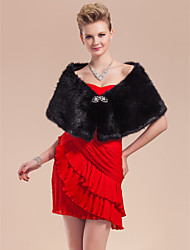 cheap -Feather/Fur Wedding Party Evening Fur Wraps Wedding  Wraps Shawls With Rhinestone Shawls