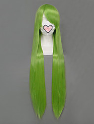 economico -Parrucche Cosplay Fairy Tail Fried Justine Verde Lungo Anime Parrucche Cosplay 100 CM Tessuno resistente a calore Donna