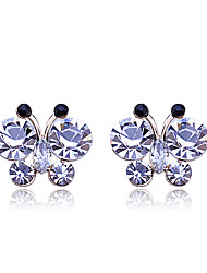 cheap -Korean Fashion Studded With Drill  Delicacy Butterfly Alloy Stud Earrings