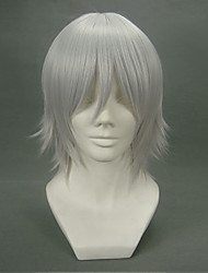 Parrucche Cosplay D.Gray-man Allen Walker Grigio Corto Anime Parrucche Cosplay 32 CM Tessuno resistente a calore Uomo