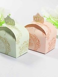 Card Paper Favor Holder With Favor Boxes-12 Wedding Favors Beautiful