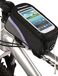 economico -ROSWHEEL Borsa da biciMarsupio triangolare da telaio bici Bag Cell Phone Impermeabile Striscia riflettente Marsupio da biciTessuto