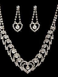 baratos -maravilhosa czech strass banhado em liga de casamento set jóia nupcial, incluindo colar e brincos