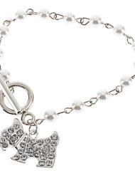 Femme Charmes pour Bracelets Perle Résine Alliage Forme d'Animal Chien Bijoux Pour Mariage
