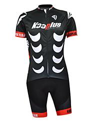 Kooplus Maglia con salopette corta da ciclismo Per uomo Mezza manica Bicicletta Calzamaglia/Salopette/Corsari Maglietta/Maglia Set di