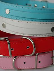 Hunde Halsbänder / Leinen Rot / Schwarz / Weiss / Blau / Rosa PU Leder