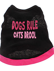 cheap -Dog Shirt / T-Shirt Dog Clothes Heart Letter & Number Cotton Costume For Pets