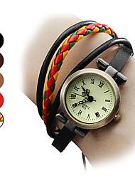 cheap -Women's Bracelet Watch Japanese Genuine Leather Band Bohemian / Fashion Black / Brown