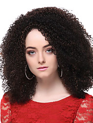 cheap -Synthetic Wig Curly Layered Haircut Synthetic Hair Waterfall Brown Wig Women's Short Halloween Wig / Carnival Wig Full Lace Party / Daily