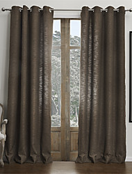 cheap -Two Panels Curtain Modern , Solid Living Room Faux Linen Material Curtains Drapes Home Decoration For Window