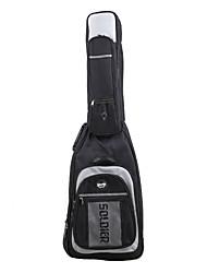 Недорогие -Солдат - (3018B) 5 карманов толстые Мягкая сумка электрические гитары с невидимыми ремень