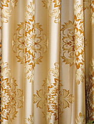 cheap -Two Panels Curtain European Neoclassical Bedroom Polyester Material Curtains Drapes Home Decoration For Window