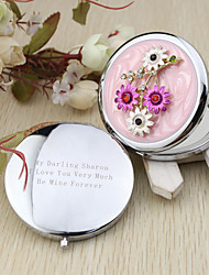 Wedding Anniversary Engagement Party Bridal Shower Birthday Party Bachelor's Party Chrome Compacts Floral Theme