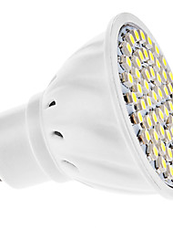 cheap -3W GU10 LED Spotlight MR16 60 LEDs SMD 3528 Warm White Cold White 6000lm 6000KK AC 220-240 AC 110-130V